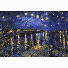 Vincent Van Gogh Starry Night Over The Rhone Canvas 12  X 18  (unframed)