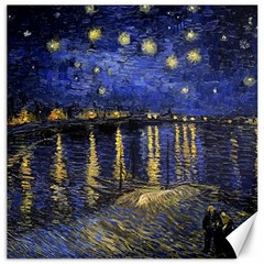 Vincent Van Gogh Starry Night Over The Rhone Canvas 16  x 16  (Unframed)