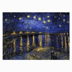 Vincent Van Gogh Starry Night Over The Rhone Glasses Cloth (Large, Two Sided)