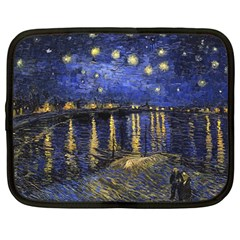 Vincent Van Gogh Starry Night Over The Rhone Netbook Sleeve (Large)