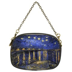 Vincent Van Gogh Starry Night Over The Rhone Chain Purse (One Side)