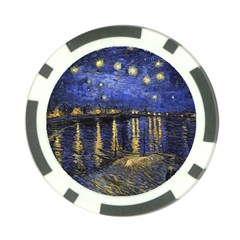 Vincent Van Gogh Starry Night Over The Rhone Poker Chip (10 Pack)