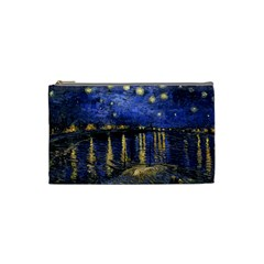 Vincent Van Gogh Starry Night Over The Rhone Cosmetic Bag (Small)