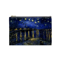 Vincent Van Gogh Starry Night Over The Rhone Cosmetic Bag (Medium)