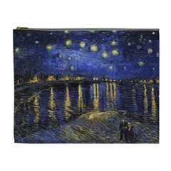 Vincent Van Gogh Starry Night Over The Rhone Cosmetic Bag (xl)