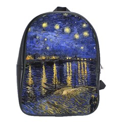 Vincent Van Gogh Starry Night Over The Rhone School Bag (Large)