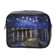 Vincent Van Gogh Starry Night Over The Rhone Mini Travel Toiletry Bag (two Sides)