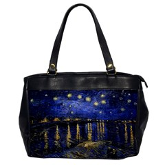 Vincent Van Gogh Starry Night Over The Rhone Oversize Office Handbag (one Side)