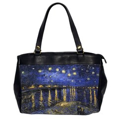 Vincent Van Gogh Starry Night Over The Rhone Oversize Office Handbag (two Sides)