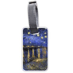 Vincent Van Gogh Starry Night Over The Rhone Luggage Tag (One Side)