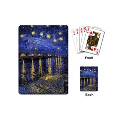 Vincent Van Gogh Starry Night Over The Rhone Playing Cards (Mini)