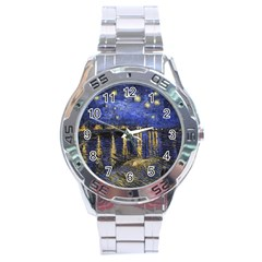 Vincent Van Gogh Starry Night Over The Rhone Stainless Steel Watch