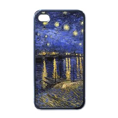 Vincent Van Gogh Starry Night Over The Rhone Apple iPhone 4 Case (Black)