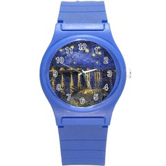 Vincent Van Gogh Starry Night Over The Rhone Plastic Sport Watch (Small)
