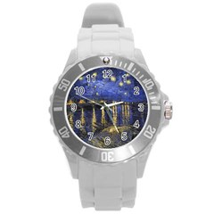 Vincent Van Gogh Starry Night Over The Rhone Plastic Sport Watch (large)