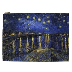 Vincent Van Gogh Starry Night Over The Rhone Cosmetic Bag (xxl)