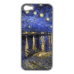 Vincent Van Gogh Starry Night Over The Rhone Apple Iphone 5 Case (silver)
