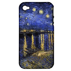 Vincent Van Gogh Starry Night Over The Rhone Apple Iphone 4/4s Hardshell Case (pc+silicone)