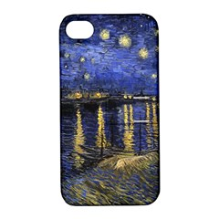 Vincent Van Gogh Starry Night Over The Rhone Apple iPhone 4/4S Hardshell Case with Stand