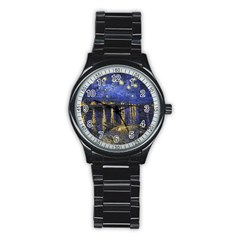 Vincent Van Gogh Starry Night Over The Rhone Sport Metal Watch (Black)