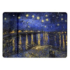 Vincent Van Gogh Starry Night Over The Rhone Samsung Galaxy Tab 10.1  P7500 Flip Case