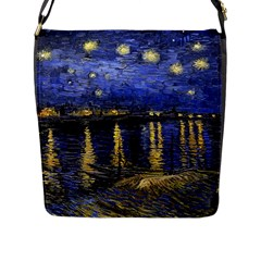 Vincent Van Gogh Starry Night Over The Rhone Flap Closure Messenger Bag (Large)