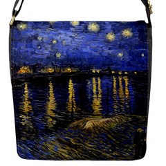 Vincent Van Gogh Starry Night Over The Rhone Flap Closure Messenger Bag (Small)