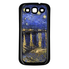 Vincent Van Gogh Starry Night Over The Rhone Samsung Galaxy S3 Back Case (Black)