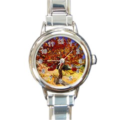 Vincent Van Gogh Mulberry Tree Round Italian Charm Watch