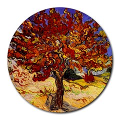 Vincent Van Gogh Mulberry Tree 8  Mouse Pad (Round)