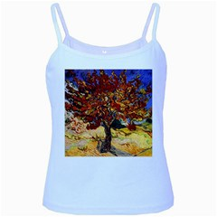 Vincent Van Gogh Mulberry Tree Baby Blue Spaghetti Tank
