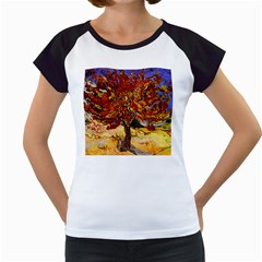 Vincent Van Gogh Mulberry Tree Women s Cap Sleeve T-Shirt (White)