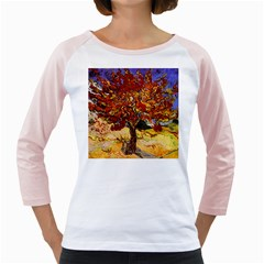 Vincent Van Gogh Mulberry Tree Women s Long Cap Sleeve T Shirt (white)