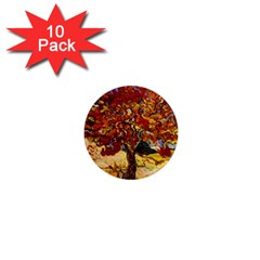 Vincent Van Gogh Mulberry Tree 1  Mini Button Magnet (10 pack)