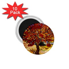 Vincent Van Gogh Mulberry Tree 1.75  Button Magnet (10 pack)
