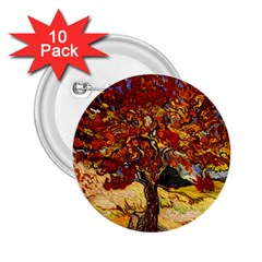 Vincent Van Gogh Mulberry Tree 2 25  Button (10 Pack)