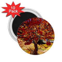 Vincent Van Gogh Mulberry Tree 2.25  Button Magnet (10 pack)