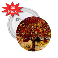 Vincent Van Gogh Mulberry Tree 2.25  Button (100 pack)
