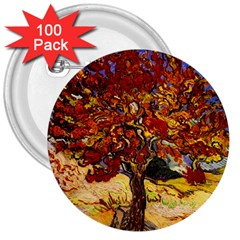 Vincent Van Gogh Mulberry Tree 3  Button (100 pack)