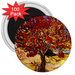Vincent Van Gogh Mulberry Tree 3  Button Magnet (100 Pack)