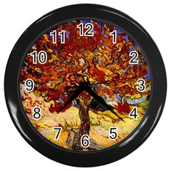 Vincent Van Gogh Mulberry Tree Wall Clock (Black)