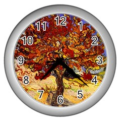 Vincent Van Gogh Mulberry Tree Wall Clock (silver)