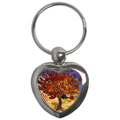 Vincent Van Gogh Mulberry Tree Key Chain (Heart)
