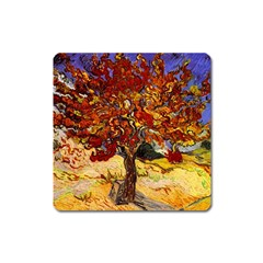 Vincent Van Gogh Mulberry Tree Magnet (Square)
