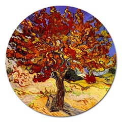 Vincent Van Gogh Mulberry Tree Magnet 5  (Round)