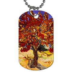 Vincent Van Gogh Mulberry Tree Dog Tag (Two-sided)