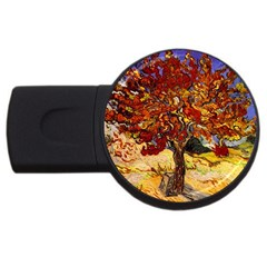 Vincent Van Gogh Mulberry Tree 1GB USB Flash Drive (Round)