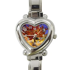 Vincent Van Gogh Mulberry Tree Heart Italian Charm Watch