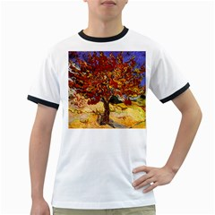 Vincent Van Gogh Mulberry Tree Mens' Ringer T Shirt