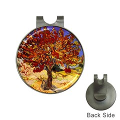 Vincent Van Gogh Mulberry Tree Hat Clip with Golf Ball Marker